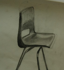 drawing of robin day style chair