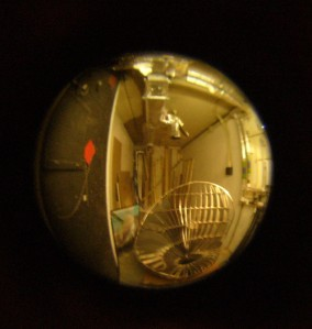Thumbprint (unfinished), 2007, viewed through a peephole!