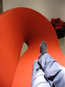 Design geek in Ron Arad designed chair