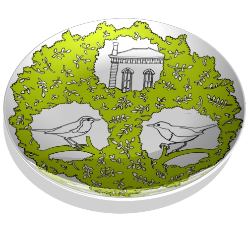 Robin Farquhar & Hannah Dipper's commemorative wedding plate front