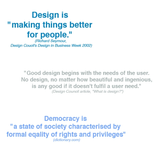 Design democracy definitions