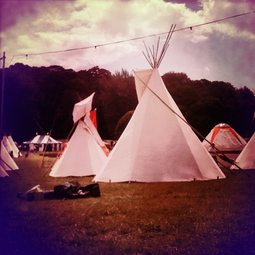 tipis at the port eliot festival (hipstamatic photo: clare howdle)