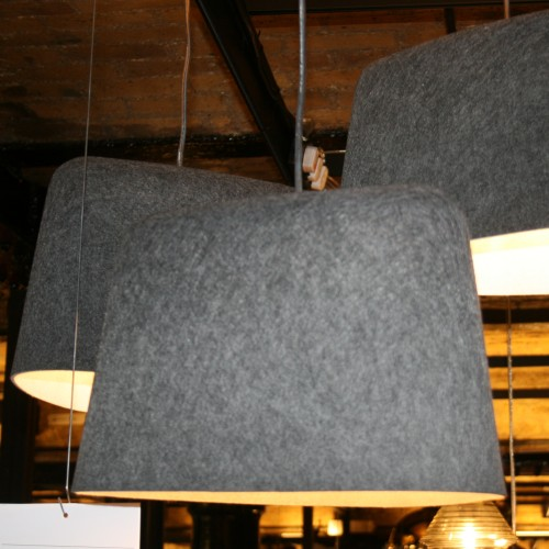 Felt pendant lights