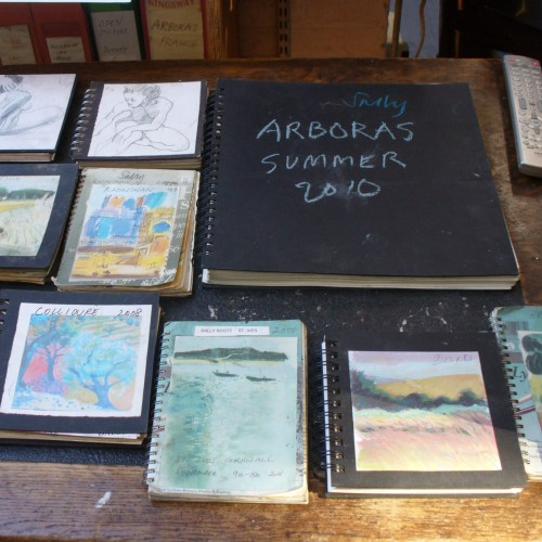 Sally Scotts sketchbooks