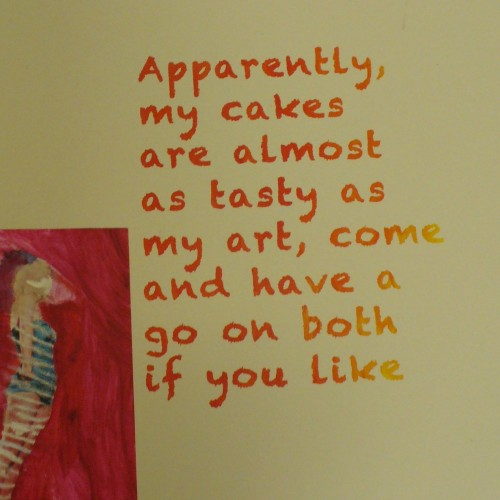 Cupcakes and art - mmmm!