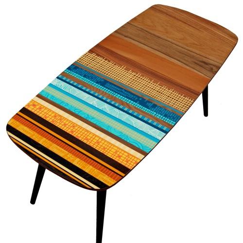 Zoe Murphy Striped Margate coffee table