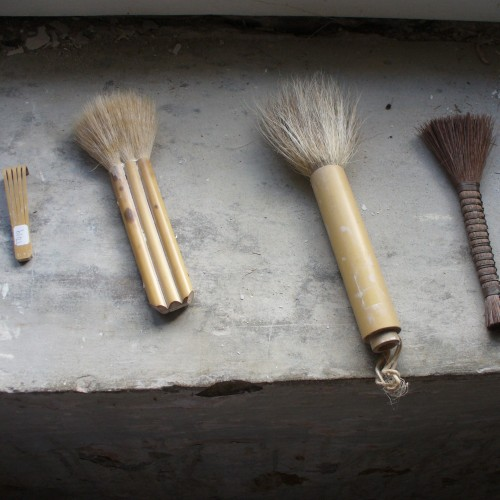 A small selection of the tools used for surface decoration
