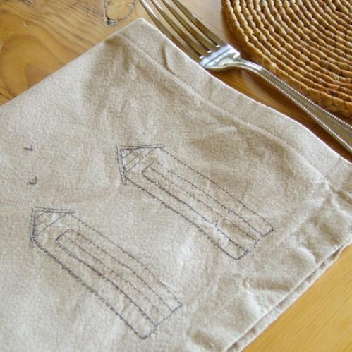 Charlotte Macey Textiles Natural Beach Hut Napkin