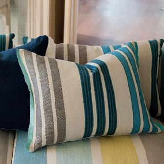 Designers Guild Nantucket Marine cushion