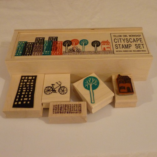 Yellow Owl Workshop Cityscape stamp set