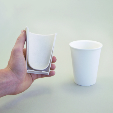 Double skinned ceramic cup for easy grip