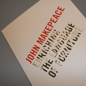 Invitation to John Makepeace: Enriching the language of furniture