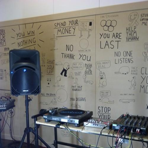 Anthony Burrill's studio at Pick Me Up