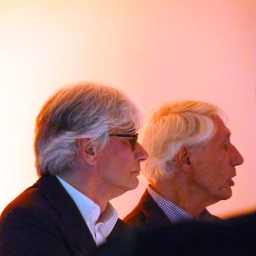 Mels Crouwel (left) and Wim Crouwel (right)