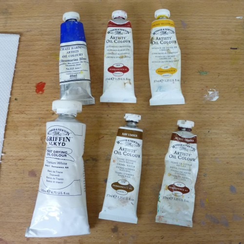 Ian's six key paint colours