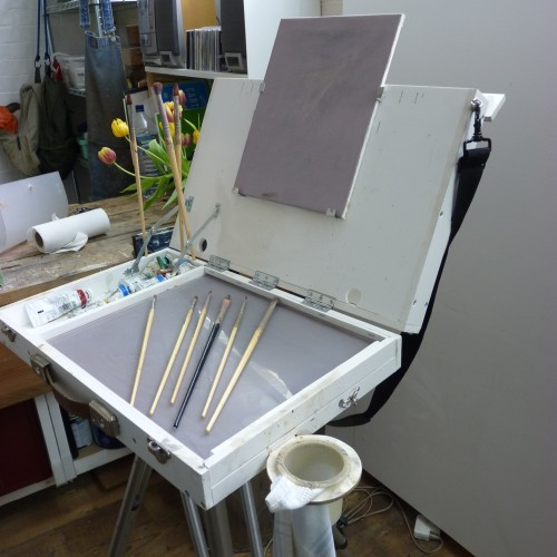 French box easel