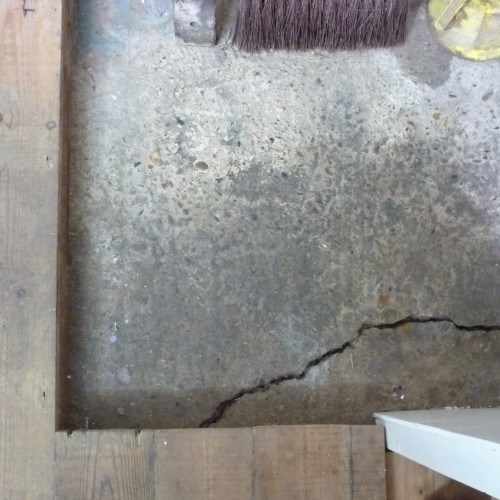 Crack in the studio floor