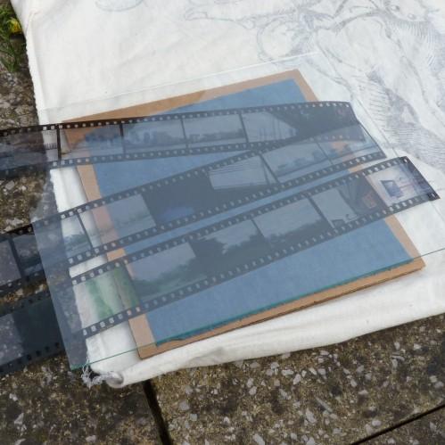 Slide film on sunography fabric