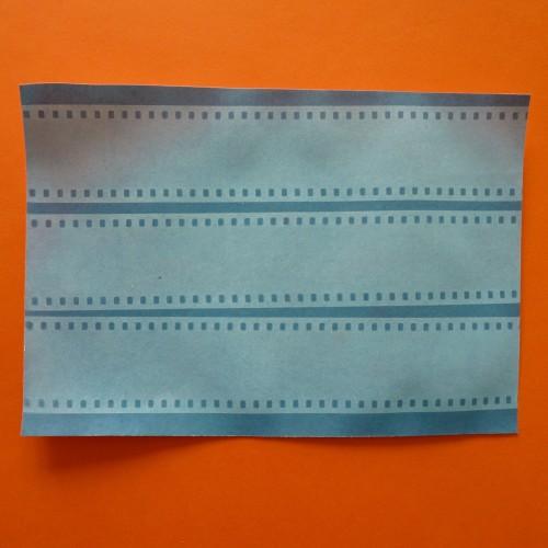 Slide film cyanotype