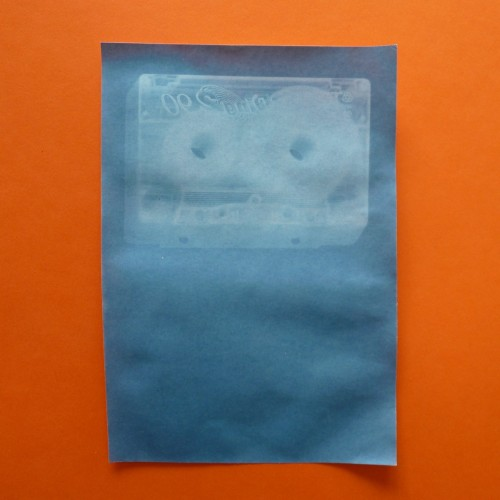 Cassette tape cyanotype