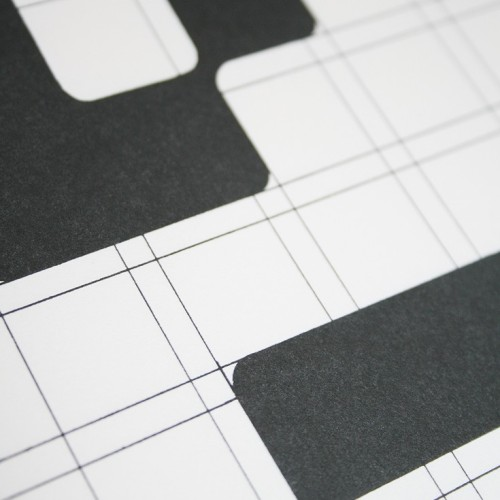 Detail of Vormgevers poster and the famous grid