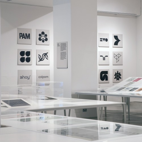 Wim Crouwel a Graphic Odyssey at the Design Museum (photograph by Luke Hayes)