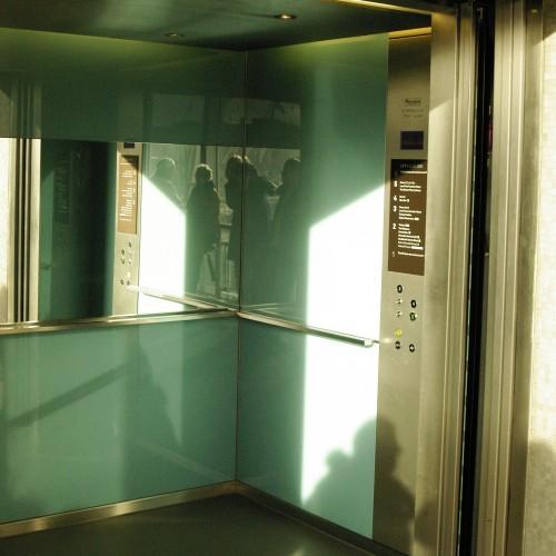 Royal Festival Hall lift interior, 2009