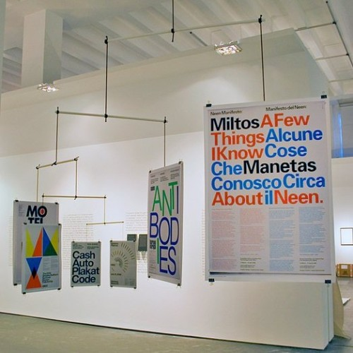 'Mobile ISO 216', hanging sculpture consisting of standard ISO 216 (DIN 476) formats. The posters (displayed scale 1:1) were selected according to size