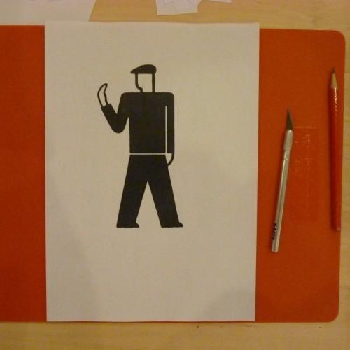 Image for my stencil, ISOTYPE design by Gerd Arntz