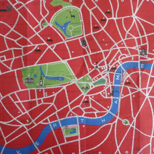 Map of London produced for the Festival with key attractions marked