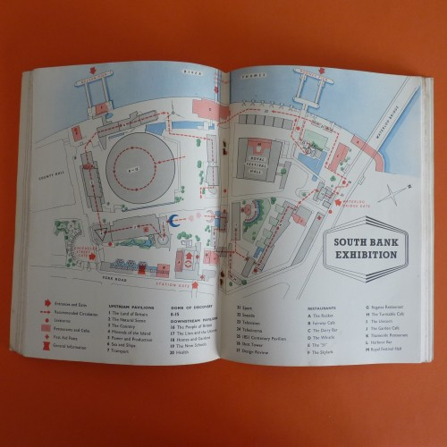 Map of Southbank Exhibition from original Festival Guide