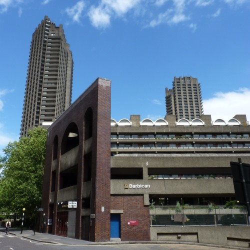 Official entrance to the Barbican Estate