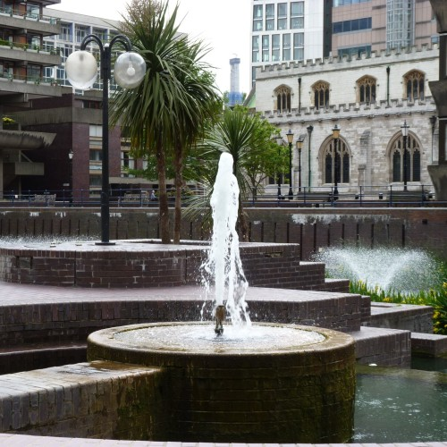 Water feature at Barbican