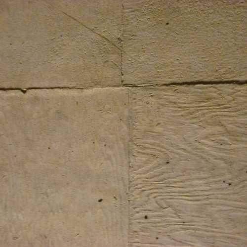 Beton Brut style concrete with wood grain from mould still visible