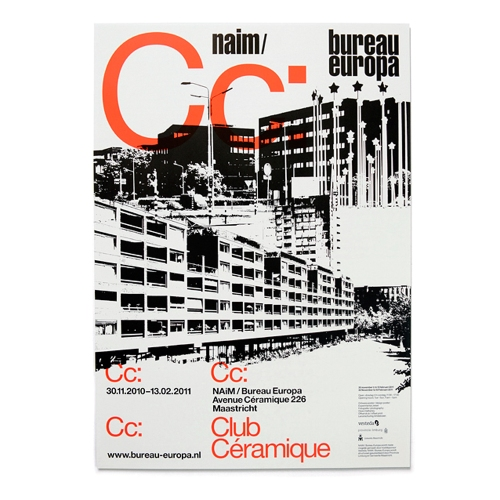 'Club Céramique', A2 poster designed for NAiM / Bureau Europa (Maastricht), 2010.