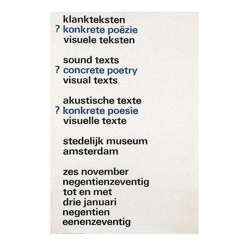 Sound Texts / Concrete Poetry / Visual Texts, Wim Crouwel