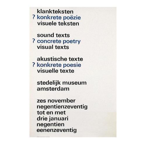 Sound Texts / Concrete Poetry / Visual Texts, Wim Crouwel