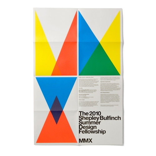 Leaflet for the 2010 Shepley Bulfinch Summer Design Fellowship, by Experimental Jetset