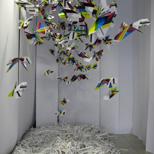 Lepidoptera Chromaticity, installation for CDW