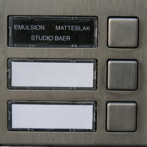 Door bell for the studio Emulsion share with Matteblak and Studio Baer