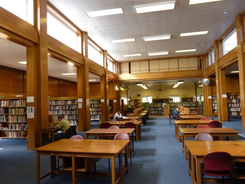 The reference library - with high windows to cut out excess light