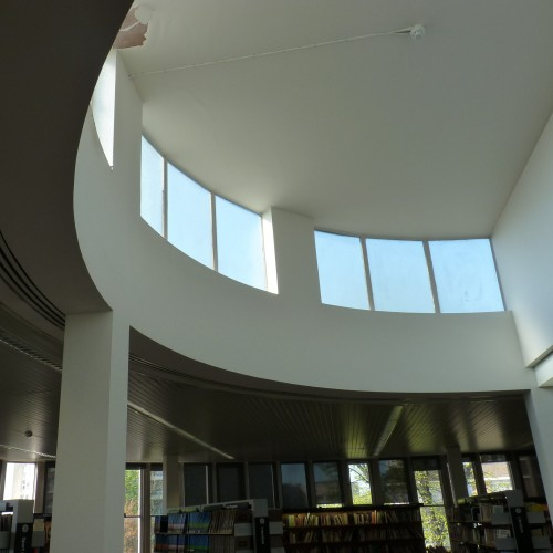 Swiss Cottage library interior