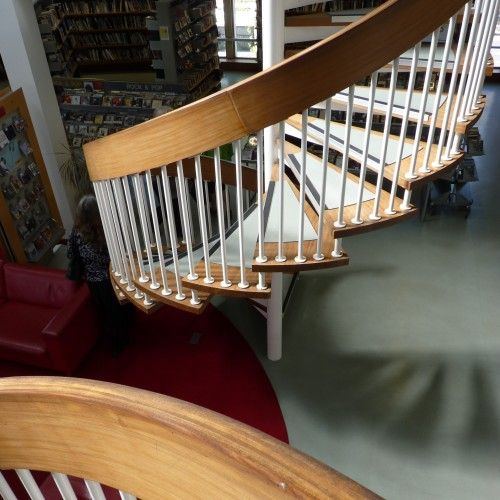 Second pair of spiral staircases