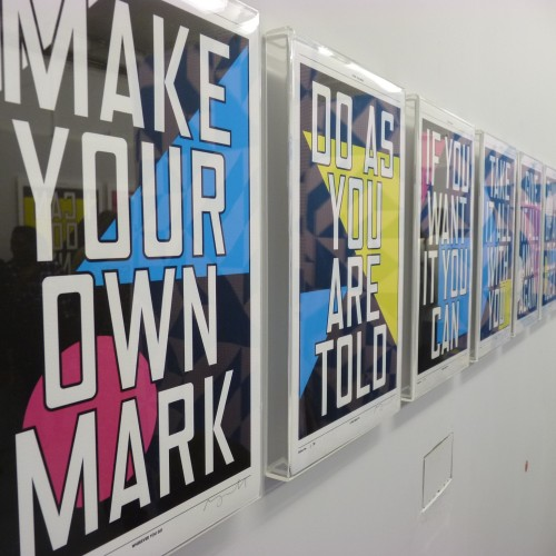 Anthony Burrill prints at Outline Editions preview