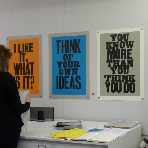 Anthony Burrill prints at Outline Editions (including my favourite, far right)