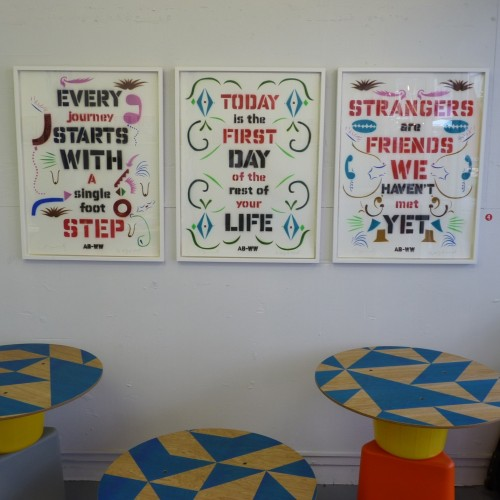 Anthony Burrill / Wilfrid Wood prints at Outline Editions