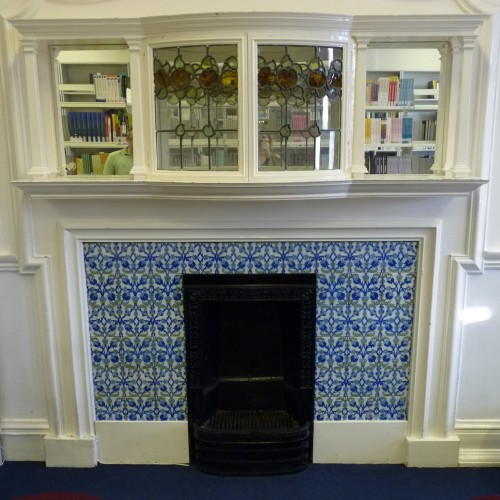 Fireplace in University of East London, Stratford Campus, Library