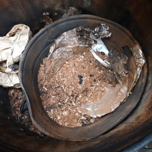 Inside smoke firing bin